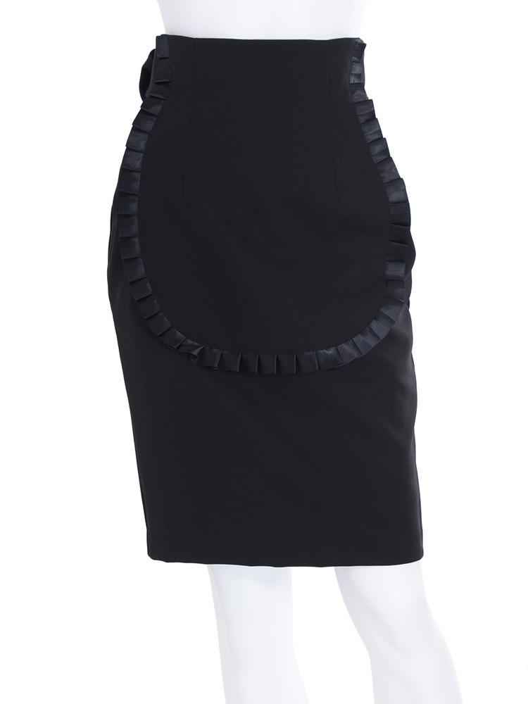 エプロンコクーンスカート(ブラック-S)