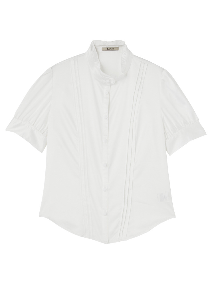 ピンタックBasicシャツ(ホワイト-F)
