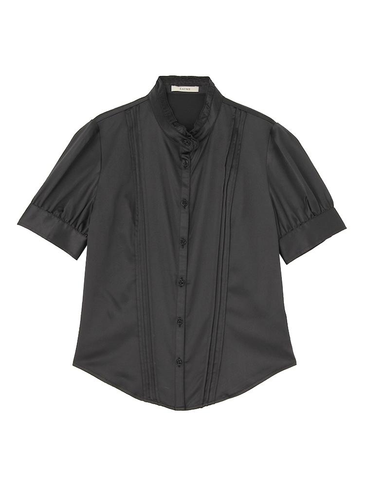 ピンタックBasicシャツ(ブラック-F)