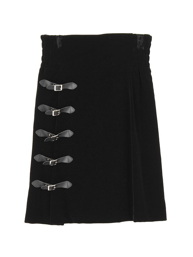 ベルテッドミニスカート(ブラック-F)