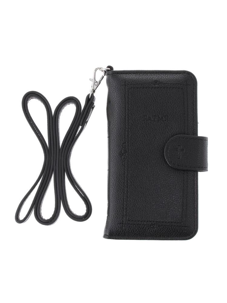 <<6/7対応>>book motif iphone6/6S/7 case(ブラック-F)