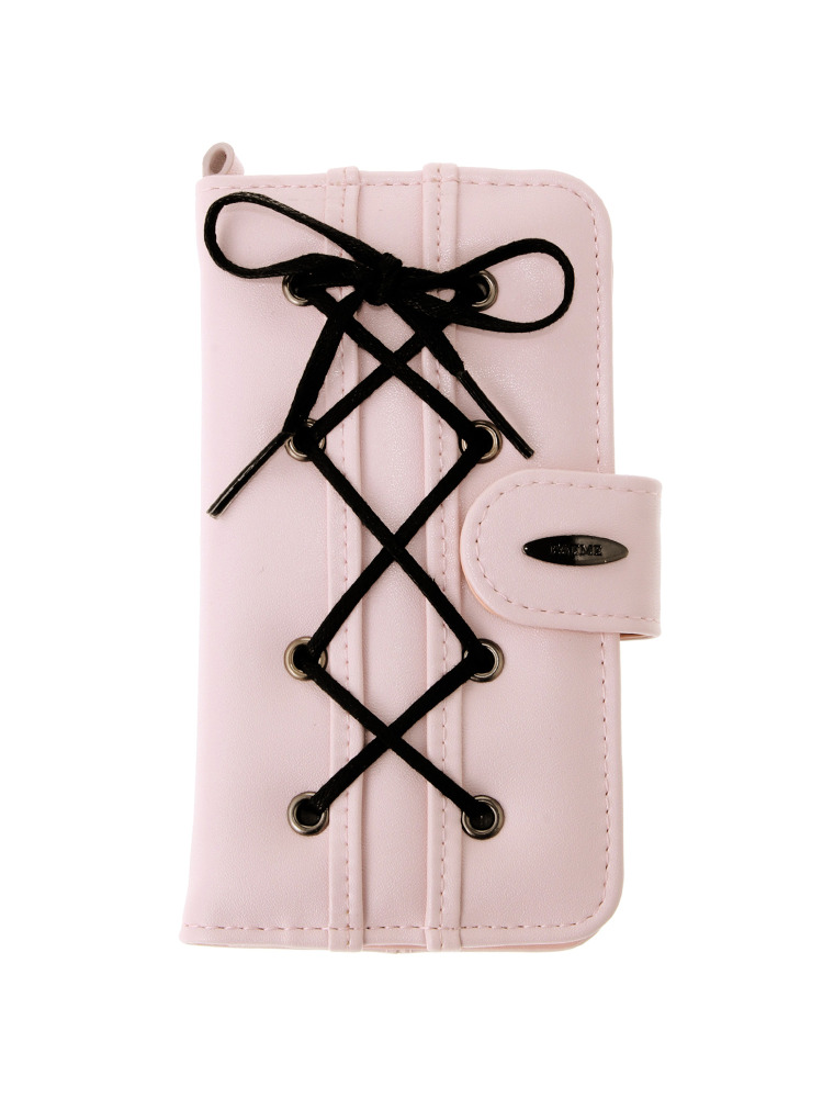 lace up smart phone case(ピンク-F)