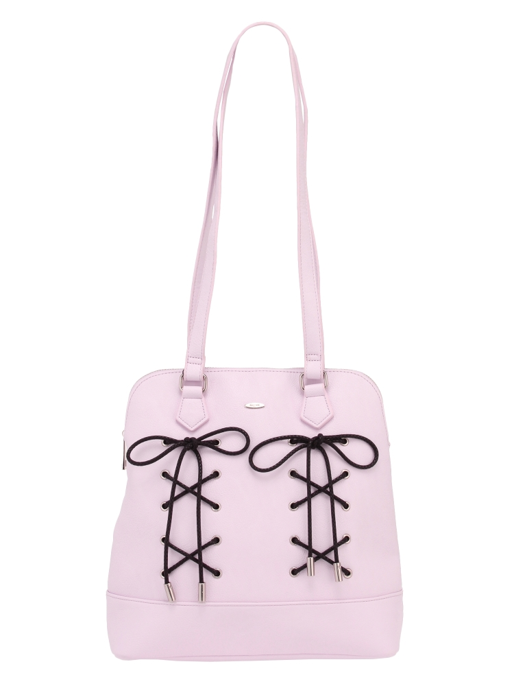 lace up 2way bag(ピンク-F)