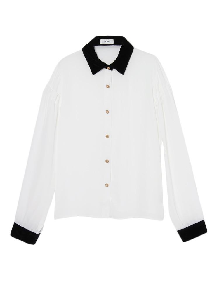 EVRIS(エヴリス) 袖切り替えスタックシャツ
