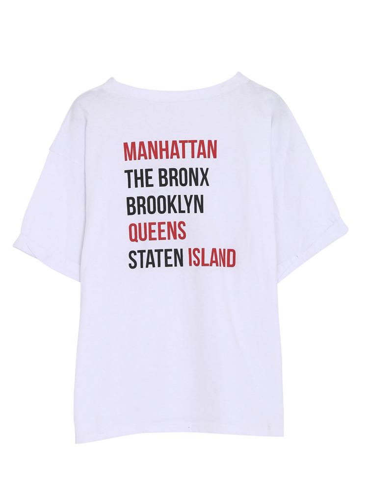マンハッタン Tシャツ(ホワイト-F)