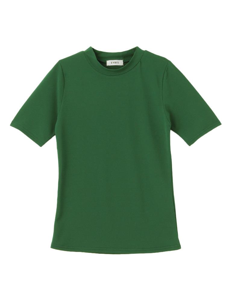 シースルーハイネックTOPS(グリーン-F)
