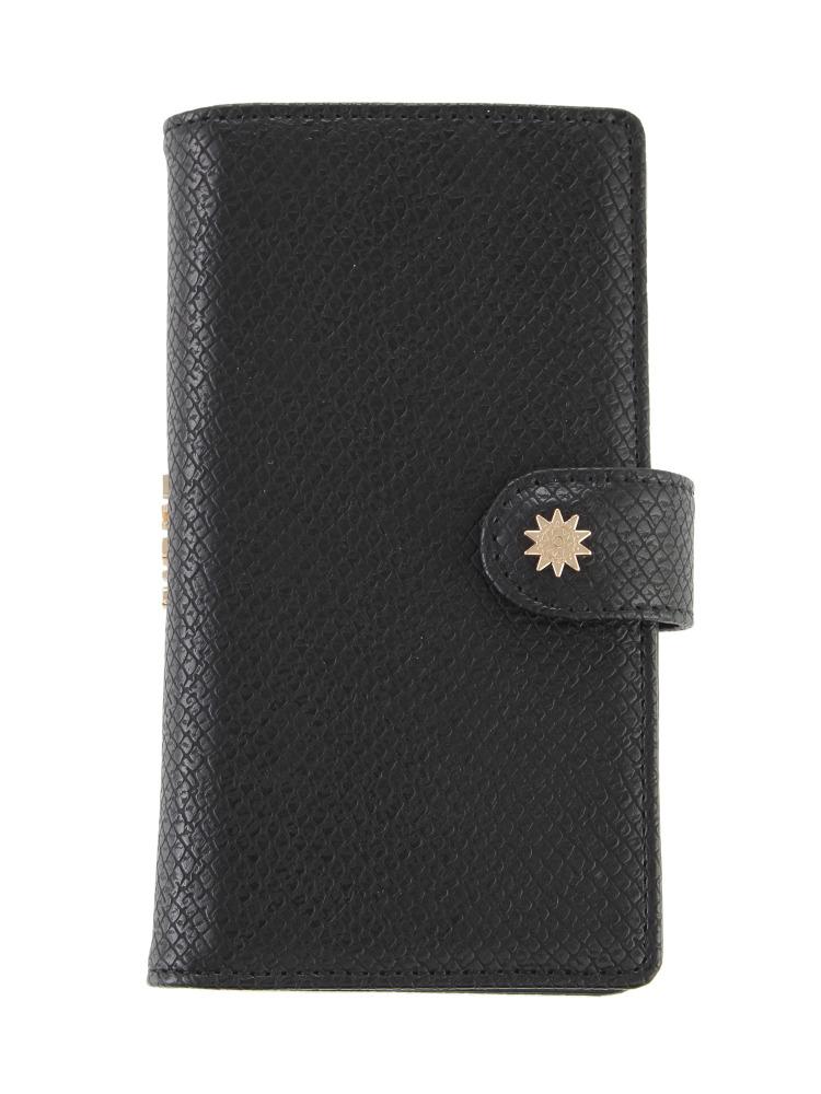 ≪6/6S 対応≫カラーパイソンiPhoneケース(ブラック-F)