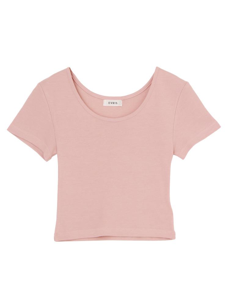 クロップドタイトTシャツ