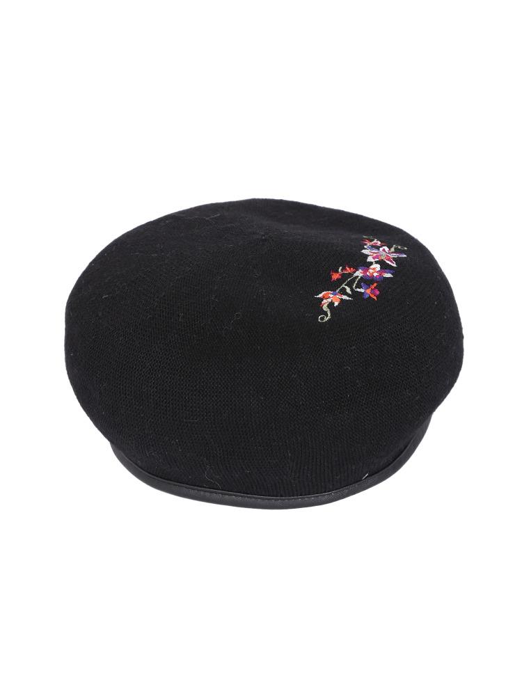FLOWER刺繍ベレー