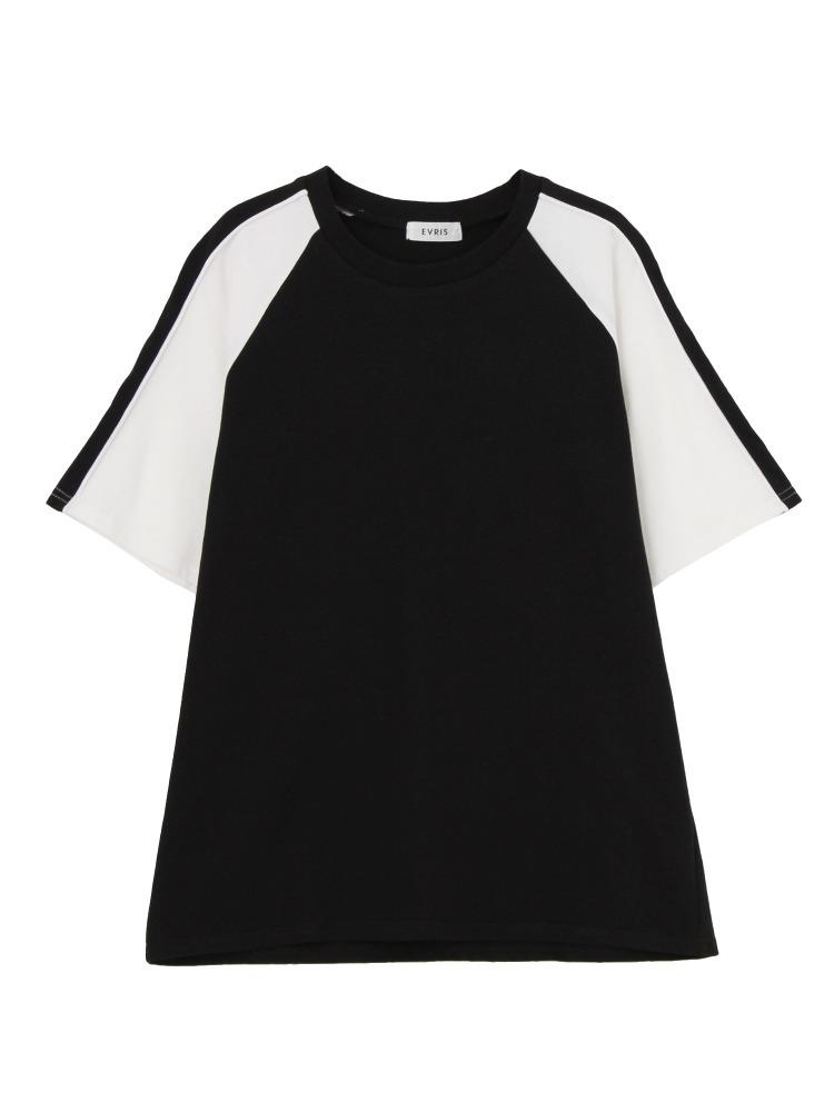 BACKEAGLEバイカラーTシャツ