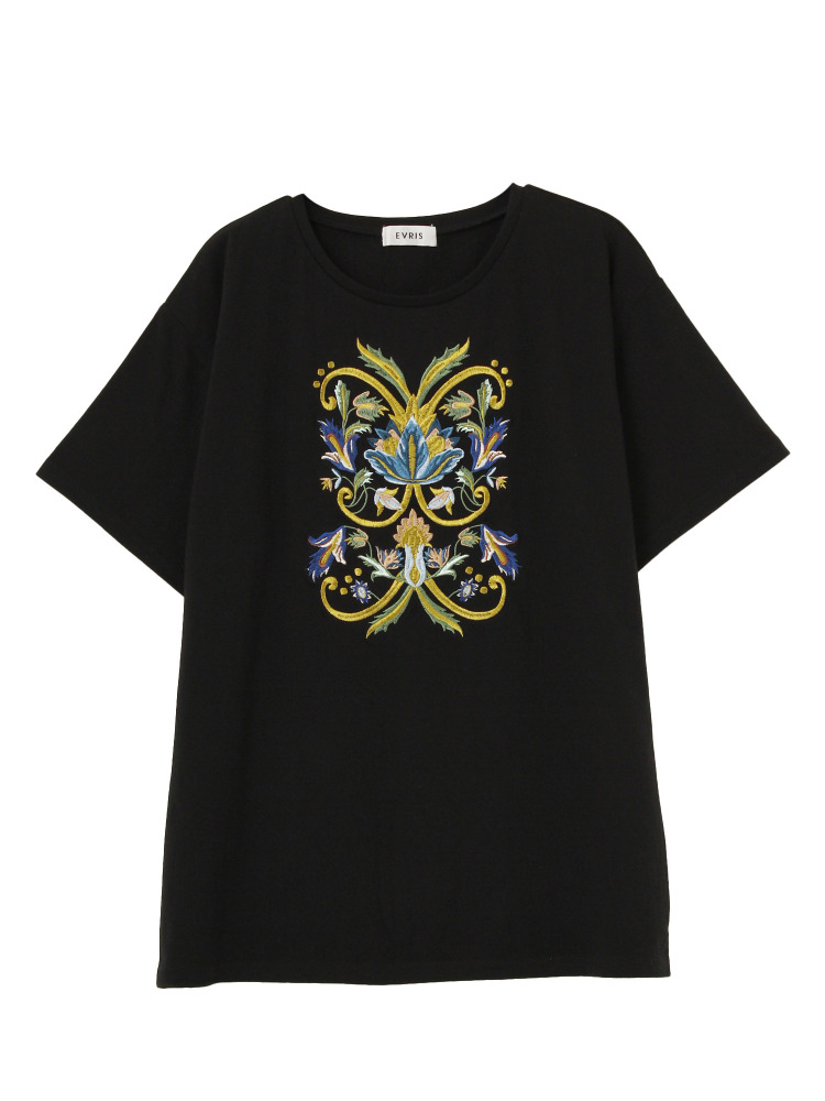 GOTHIC EMBROIDERY Tシャツ(ブラック-F)
