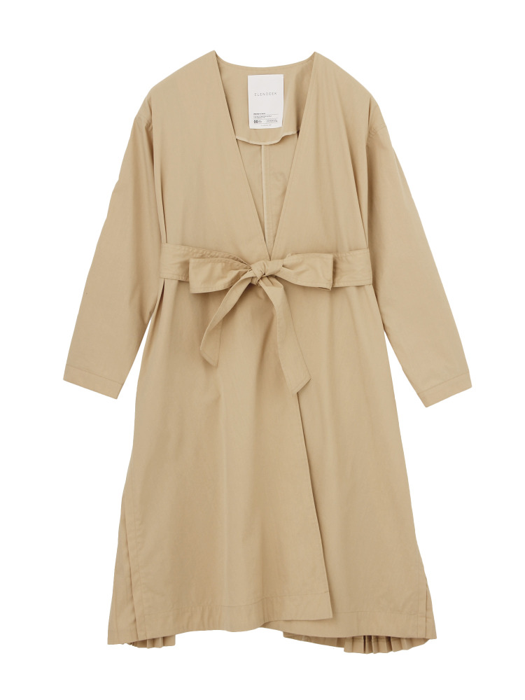 SIDE PLEATS COAT(ベージュ-1)