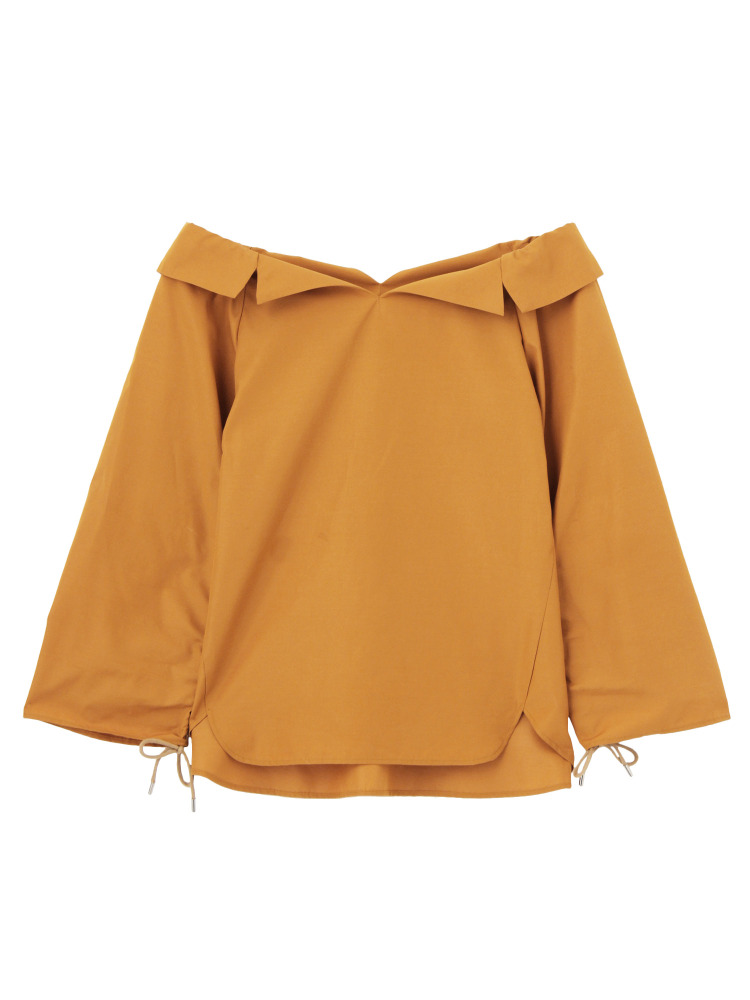 SQUEEZE SLEEVE BLOUSE(ダークオレンジ-F)