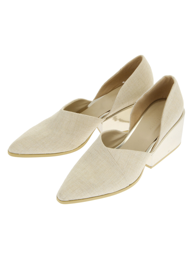 CUTTING PUMPS LINEN SHOES(ヌード-1)
