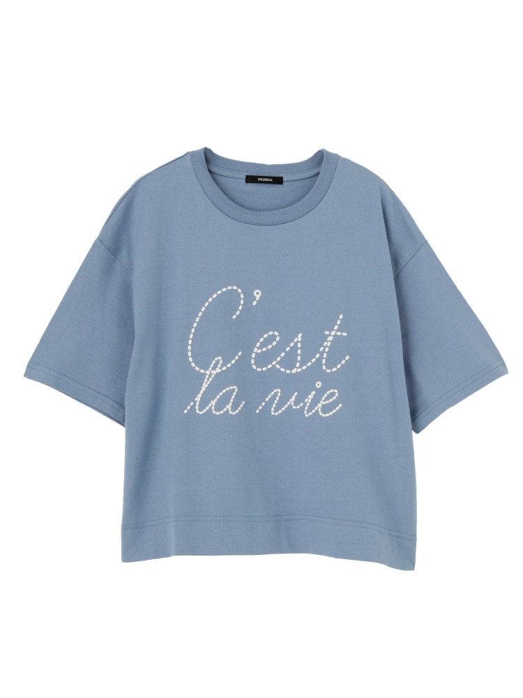 MURUAの【2017年春新作】ヘビーラバープリントTシャツ