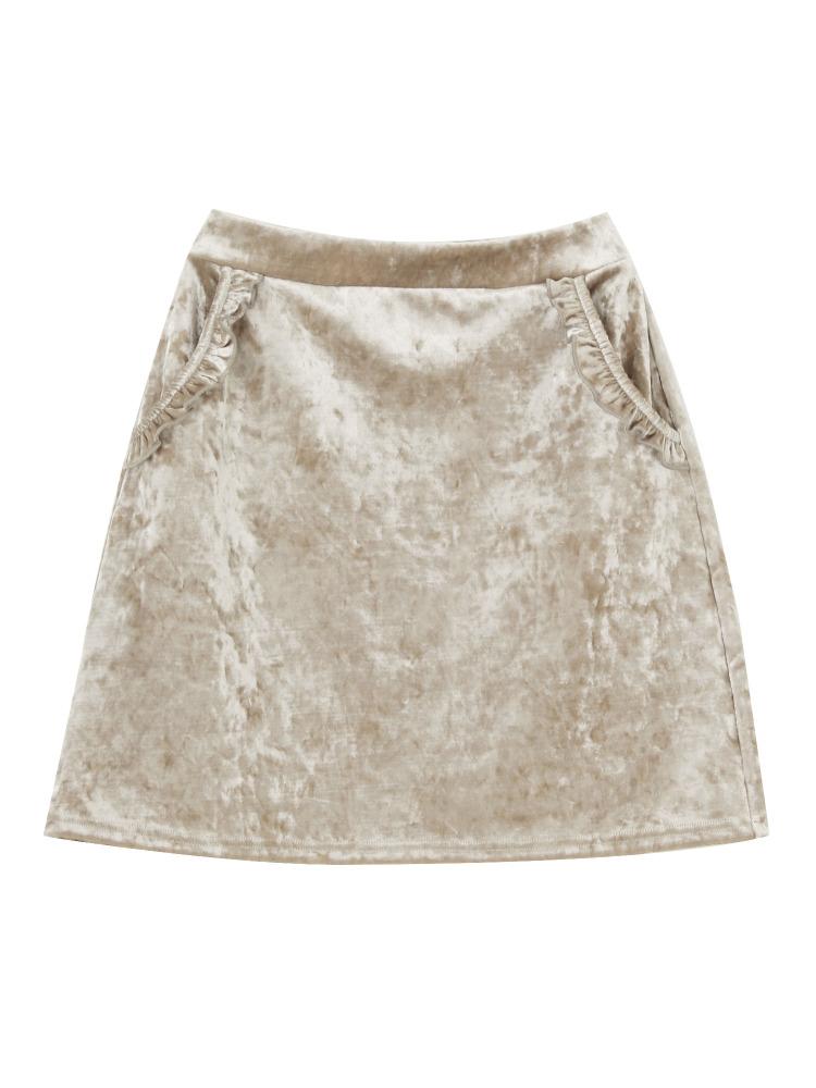 merry jennyのベロアフリルポケットスカート