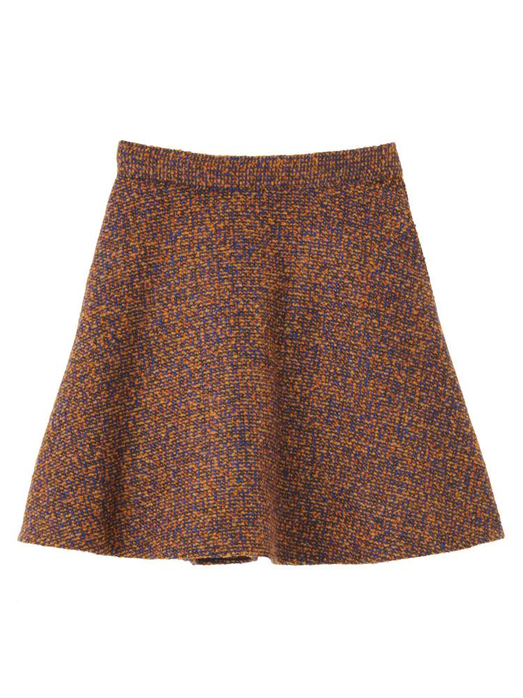 merry jennyのカラフルツイードフレアスカート